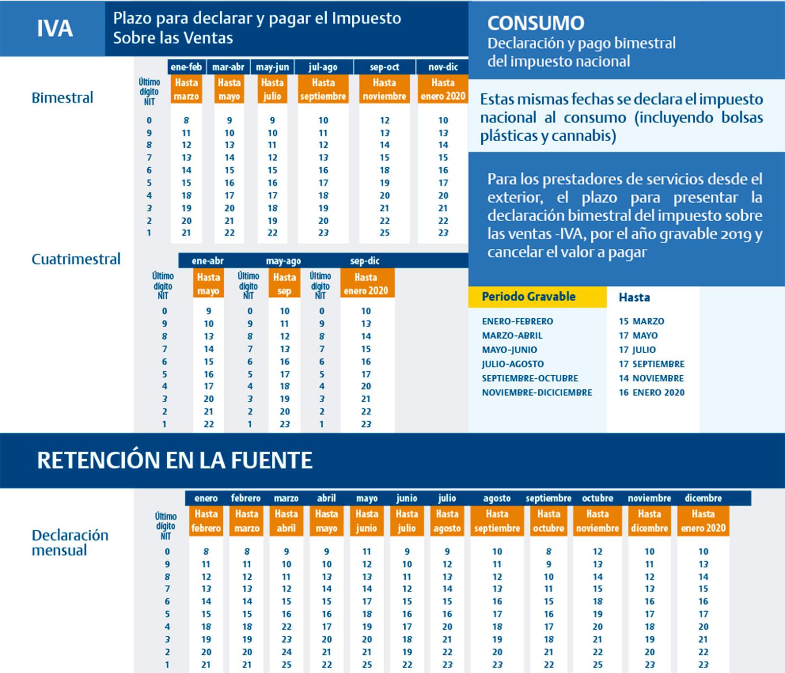 Html Calendario.Calendario Tributario Banco De Bogota